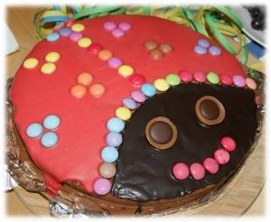 Marienkäfertorte, Geburtstag, Schokoladenkuchen